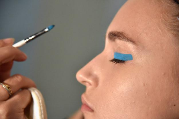 Beautiful makeup looks   Colour blocked eye makeup