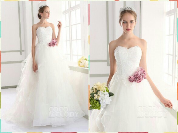 Graceful Sweetheart Natural Train Tulle Ivory Sleeveless Lace Up Wedding Dress