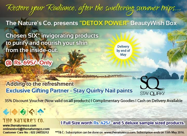 The Nature's Co Detox Power Beautywish Box