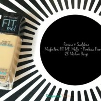 Review & Swatches | Maybelline FIT ME! Matte + Poreless Foundation - 128 Medium Beige