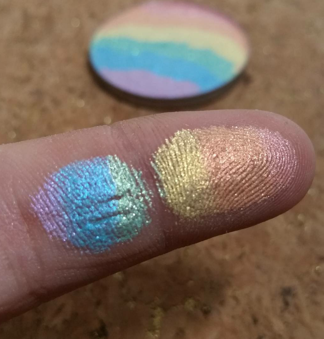 Rainbow Highlighter Swatch | Prism Highlighter Swatches | BitterLaceBeauty Highlighter