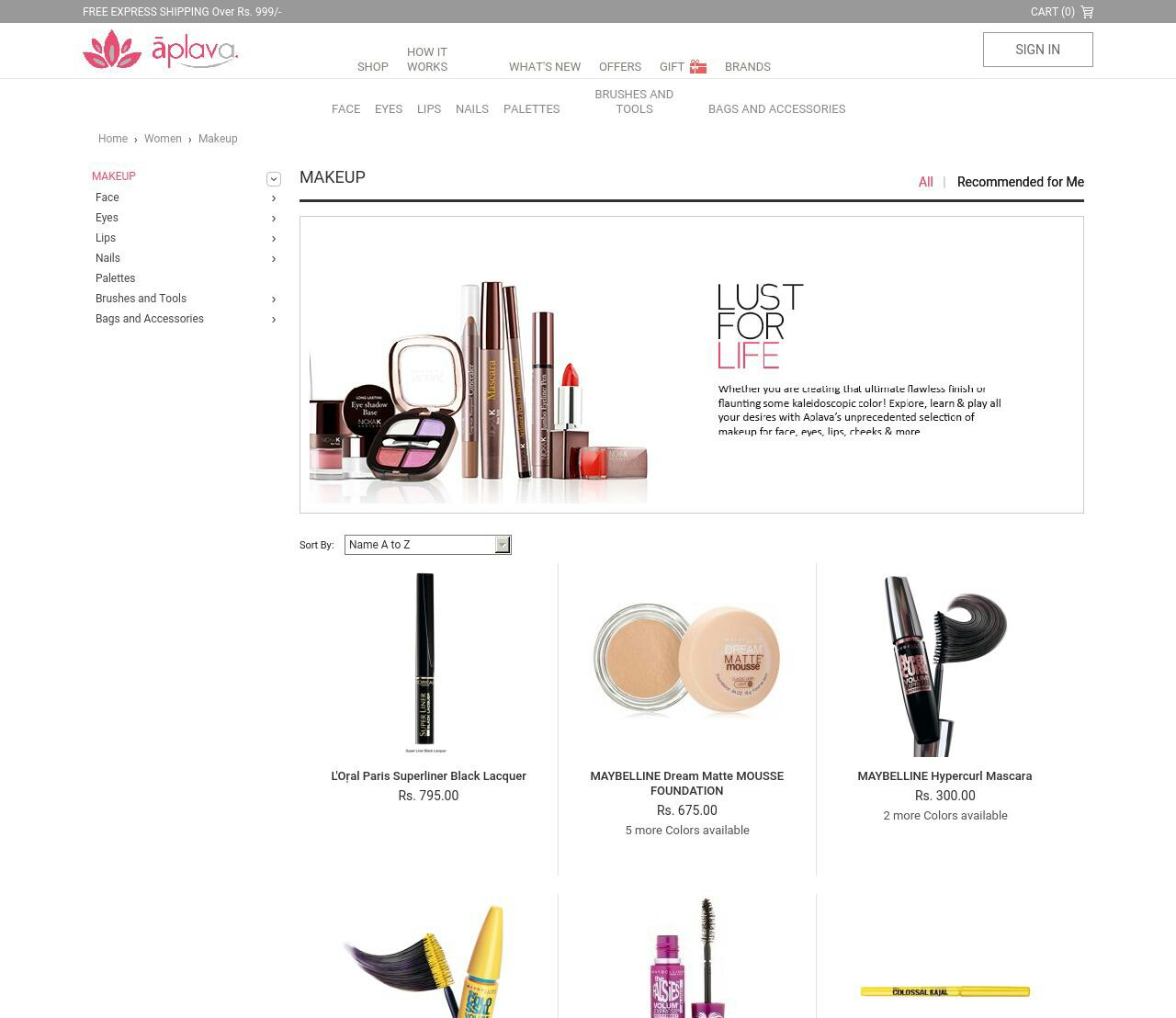 Aplava Skincare Products   Best beauty products online   Best makeup products online