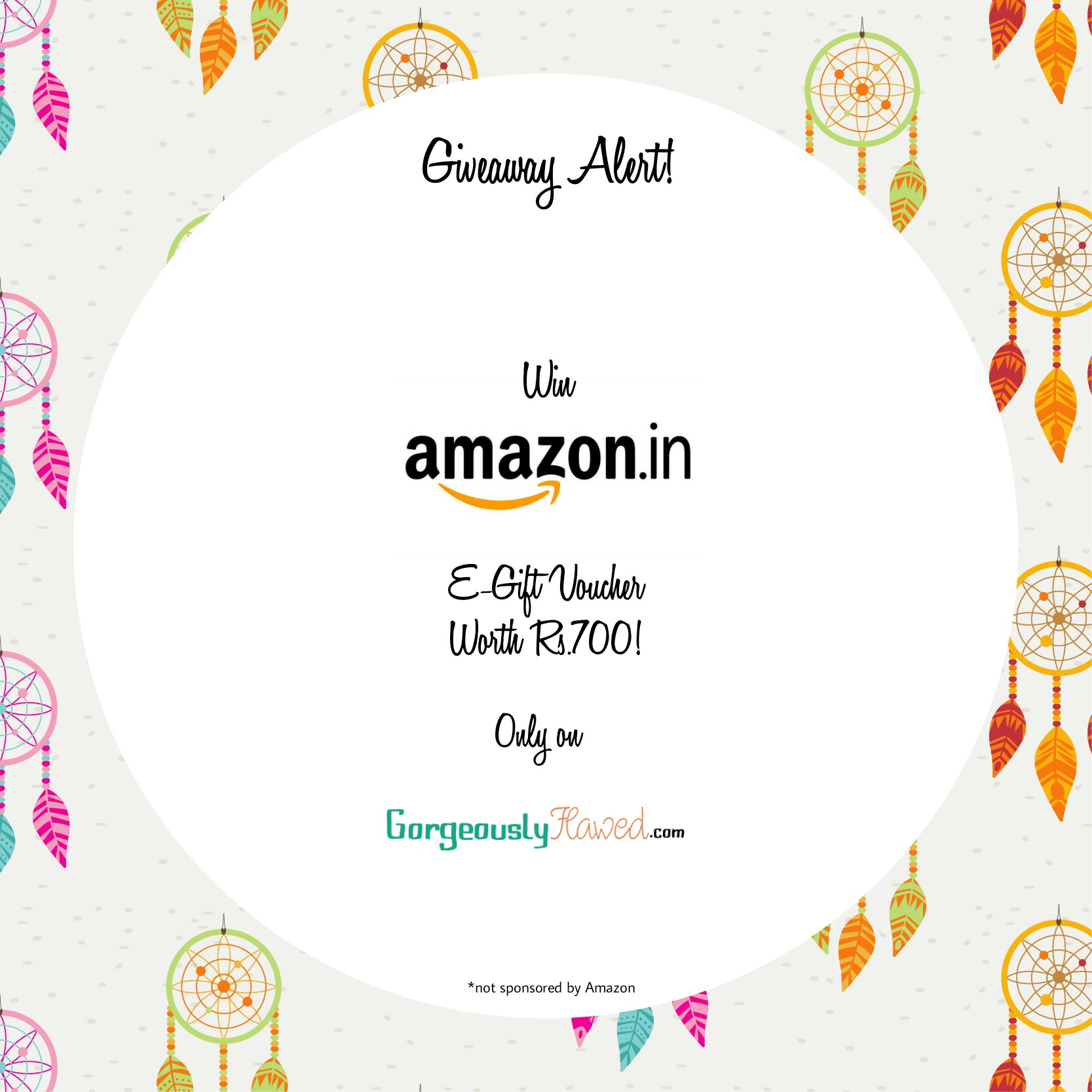 Gorgeously Flawed Giveaway | Amazon Gift Voucher Giveaway | Free Amazon Gift Voucher