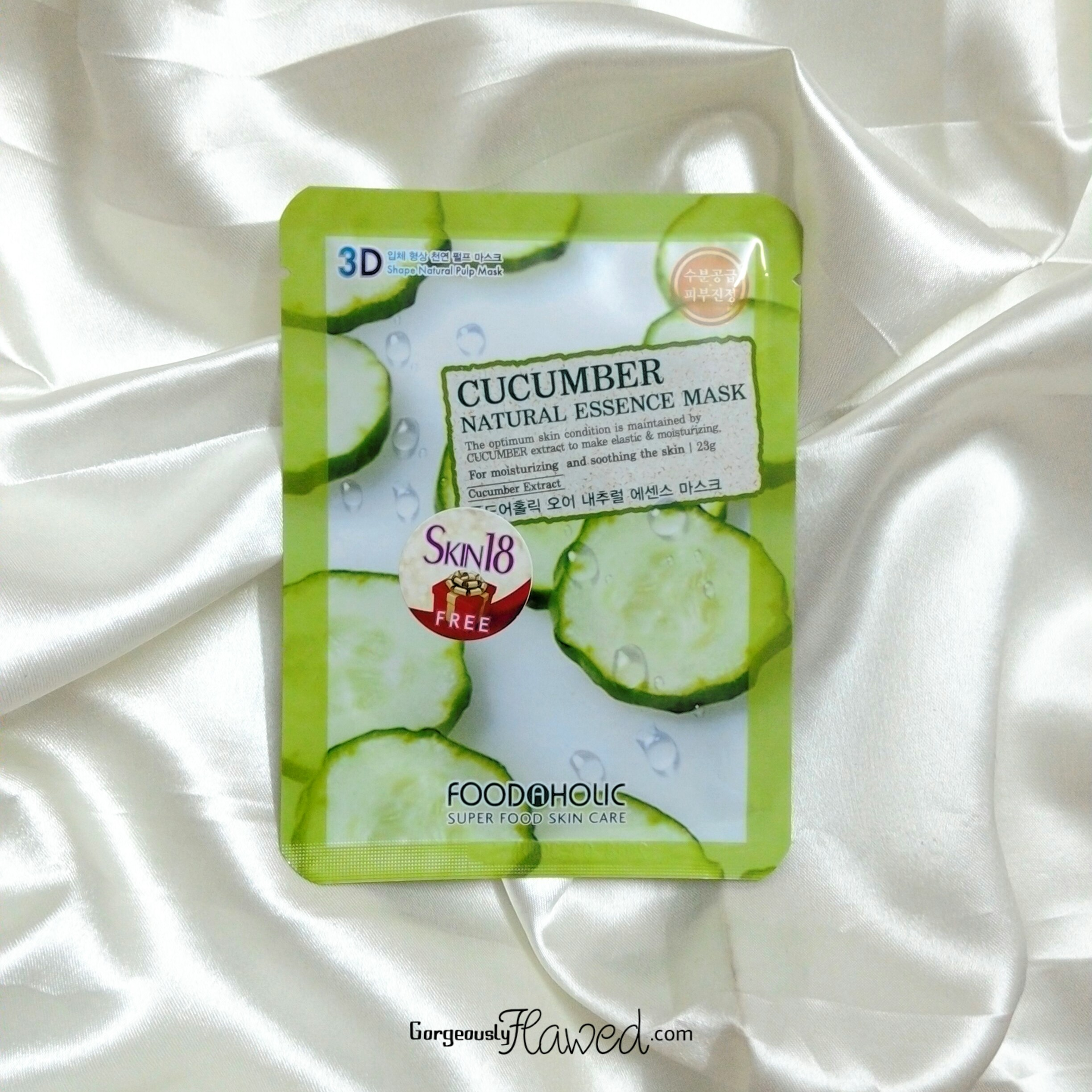 Foodaholic 3D Cucumber Natural Essence Mask Review
