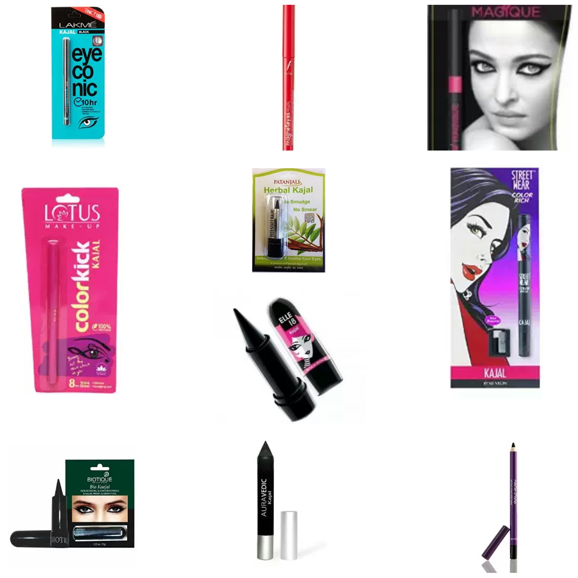List of Affordable Makeup Products For College Going Girls | Affordable Kajals in India | Affordable Kohls in India