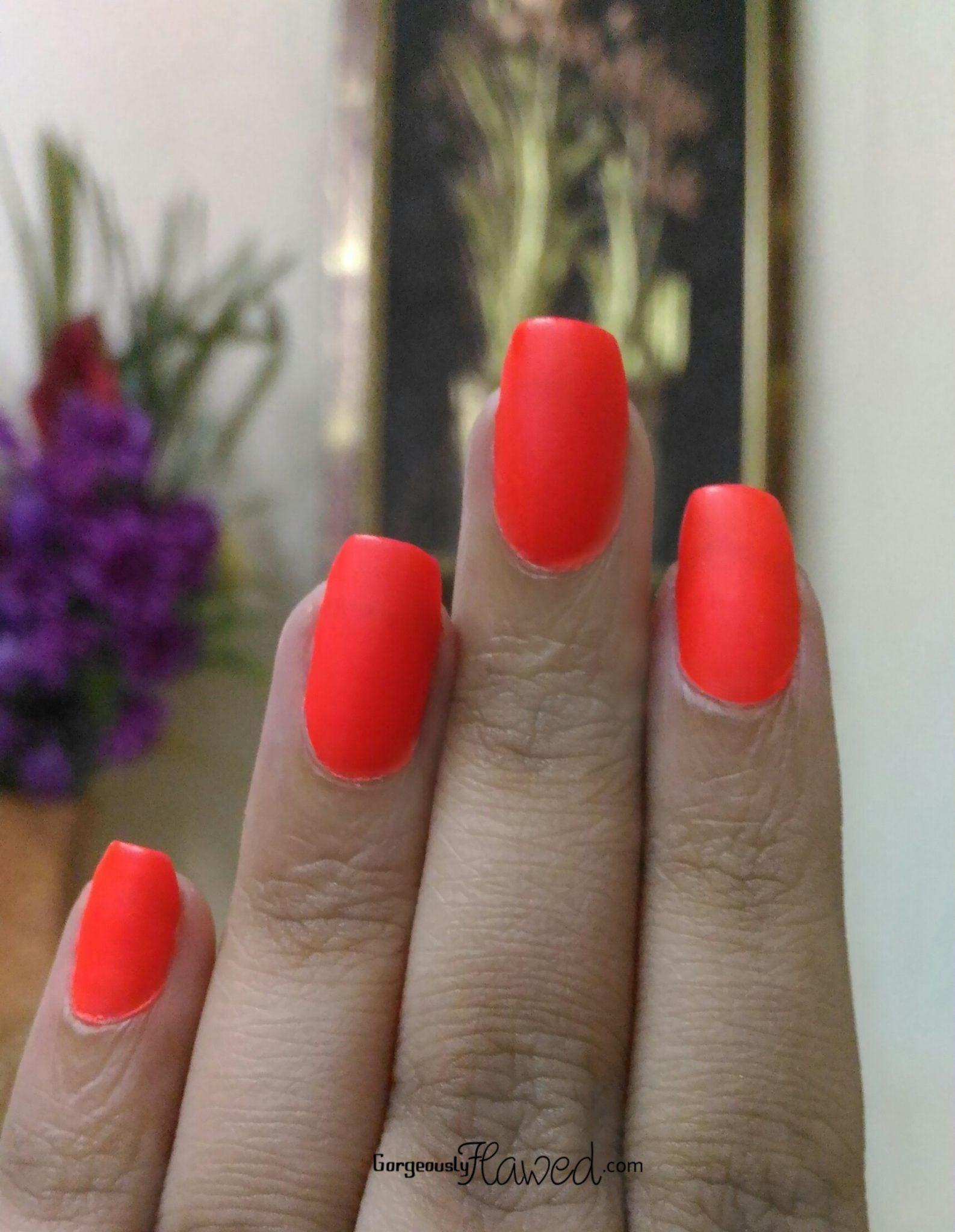 Nykaa Matte Neon Nail Enamel Cherry Pop