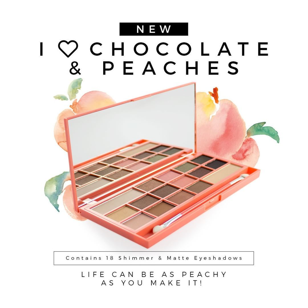 I Heart Chocolate And Peaches Eyeshadow Palette