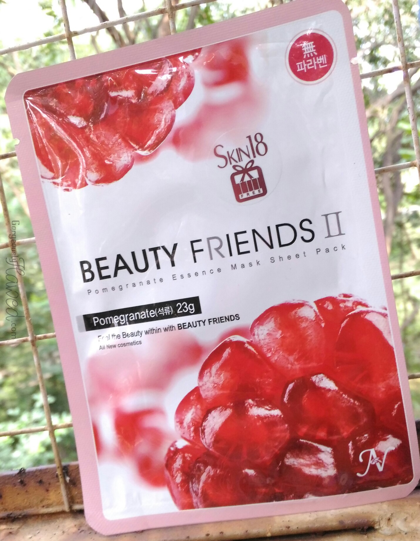 Beauty Friends II Essence Sheet Mask Pack Pomegranate