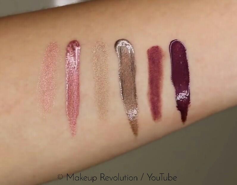 Makeup Revolution Retro Luxe Kits Metallic Swatches