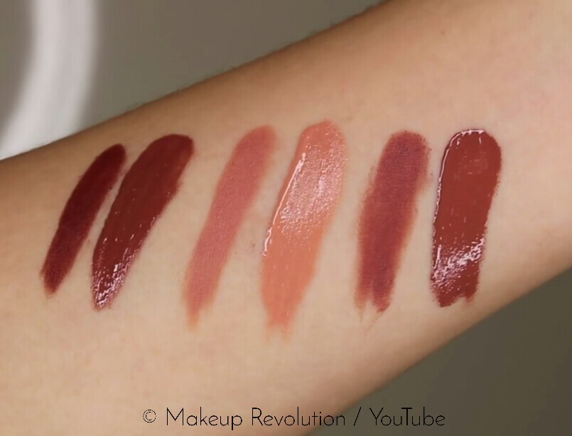 Makeup Revolution Retro Luxe Kits Gloss Swatches