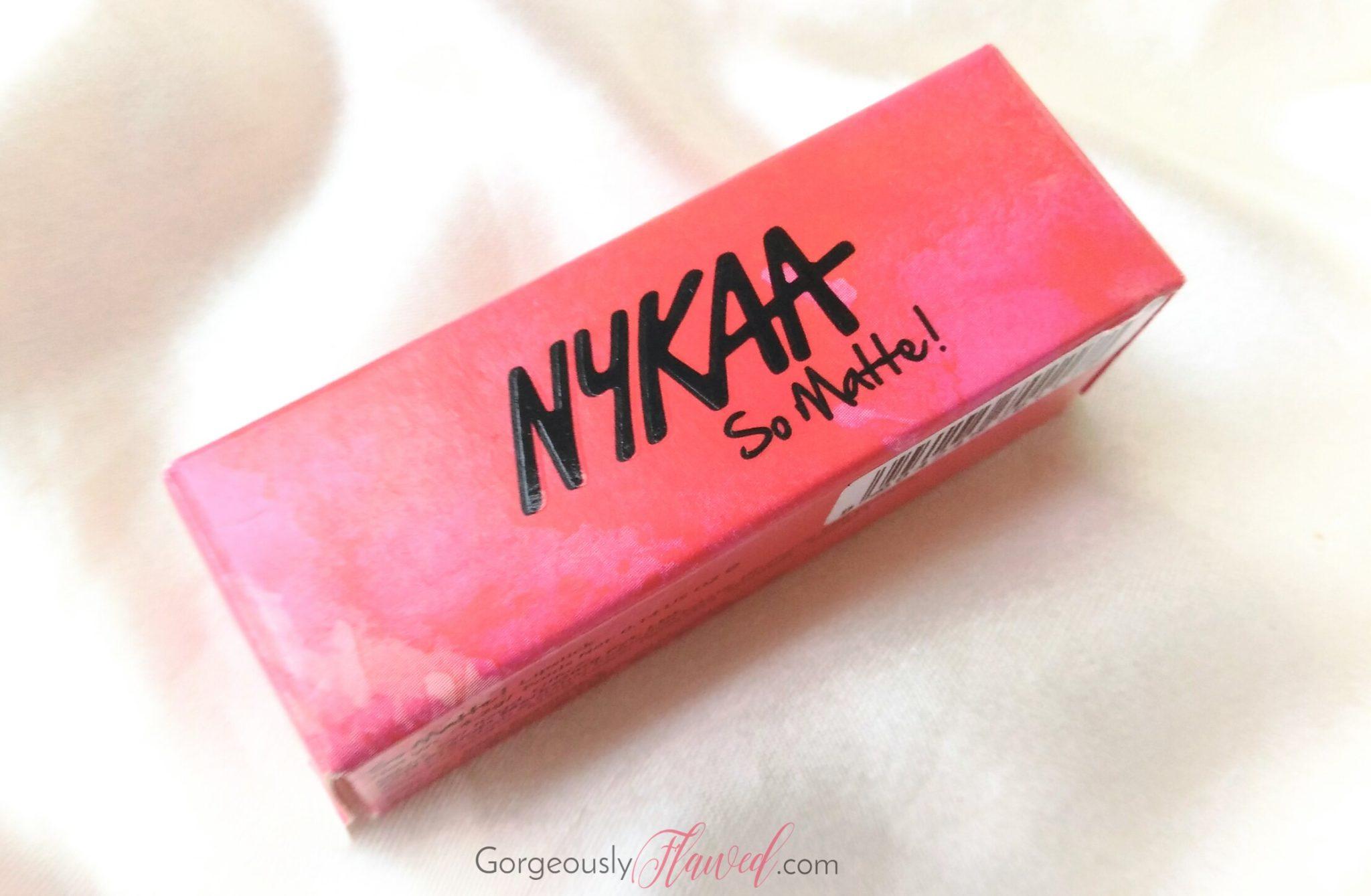 Review & Swatches | Nykaa So Matte Lipstick Pink Flirt