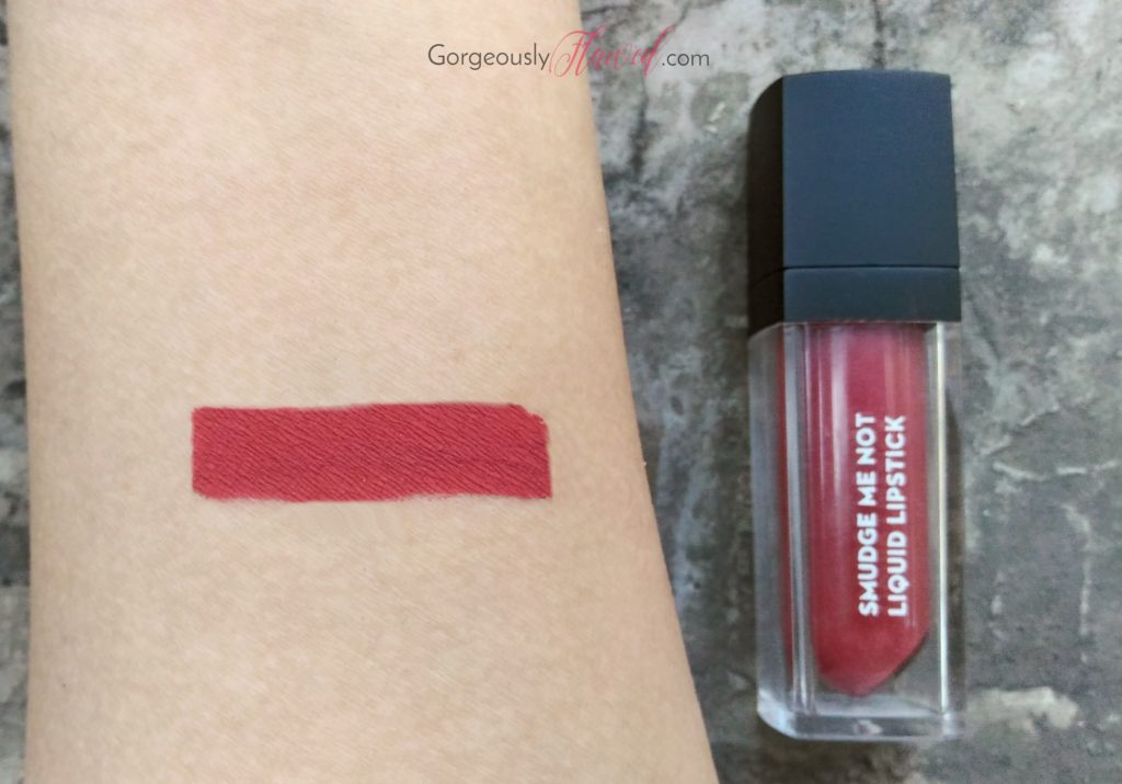 Review & Swatches | Sugar Smudge Me Not Liquid Lipstick - Rust Lust