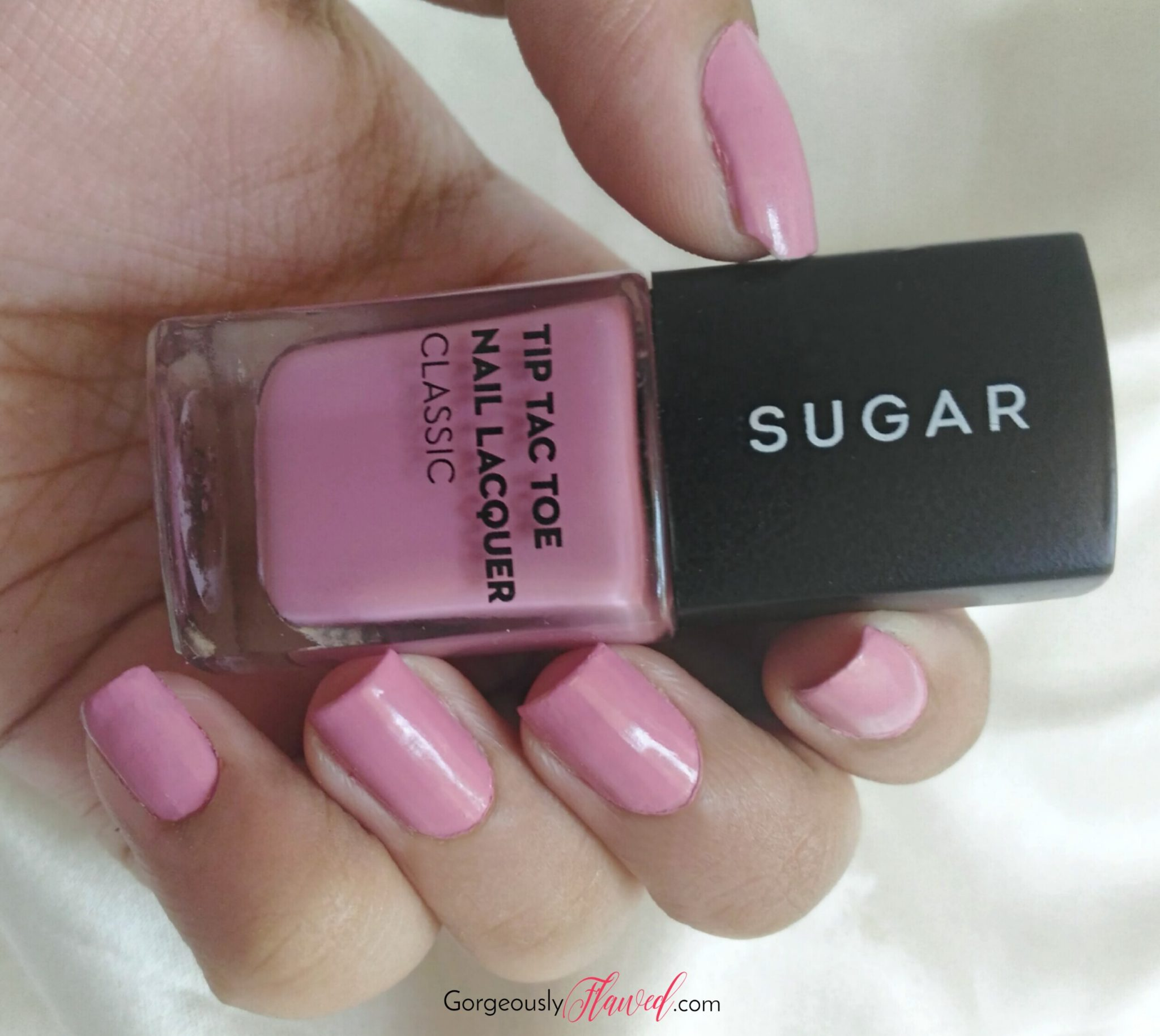 Review & Swatches   SUGAR Tip Tac Toe Nail Lacquer - Mauve Mountains