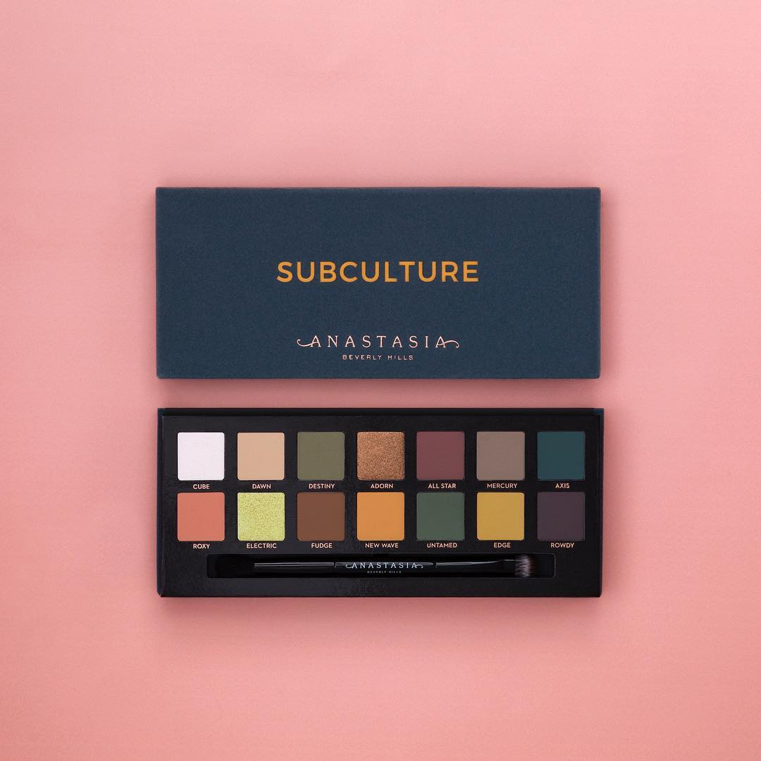just launched anastasia beverly hills subculture eyeshadow palette. Black Bedroom Furniture Sets. Home Design Ideas