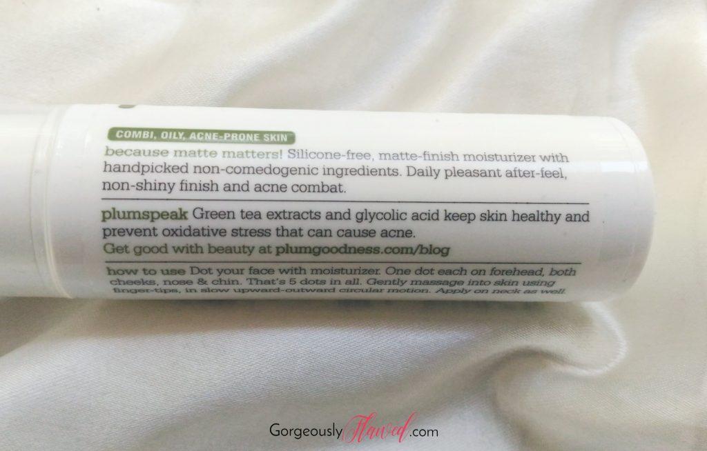 Review | Plum Green Tea Mattifying Moisturizer