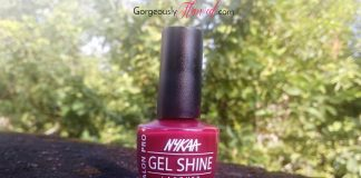 Review & Swatches | Nykaa Salon Shine Gel Nail Lacquer Vegas Roadtrip - Get Rich Salon Like Gel Manicure At Home