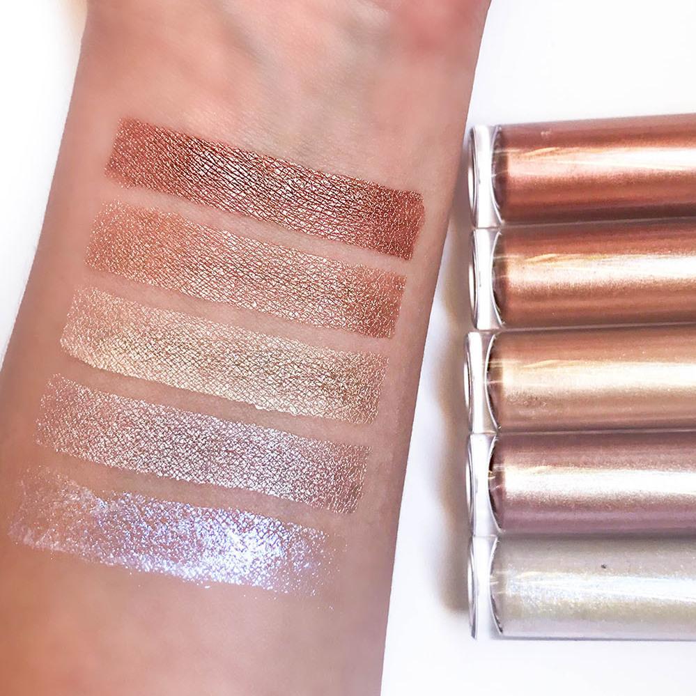 Makeup Revolution Pro The Illuminators, Revolution Pro Illuminator Price Swatches, Affordable Drugstore Liquid Highlighter For Dark Skin, Affordable MUA makeup