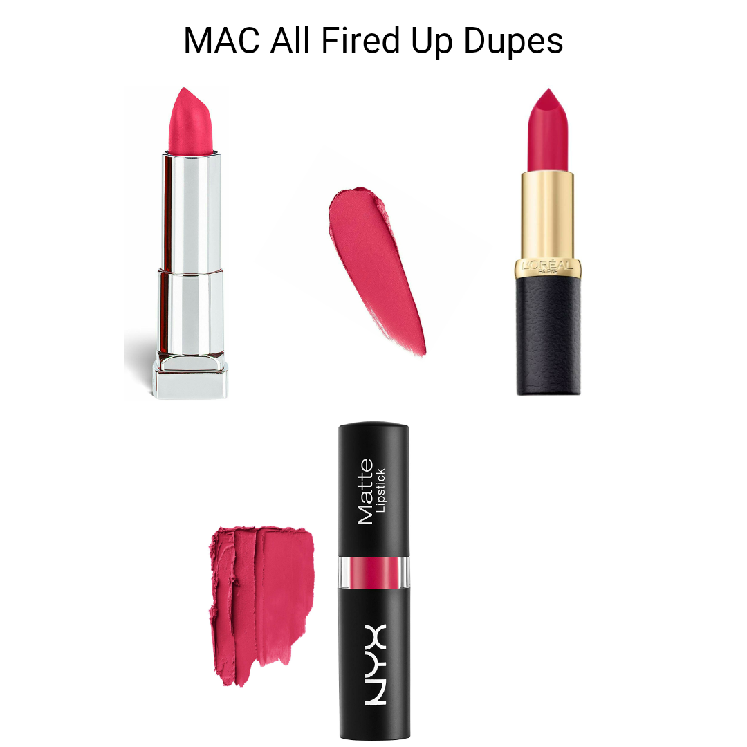 MAC Lipstick Dupes - MAC All Fired Up Dupes , Drugstore Dupes Of All Fired Up MAC