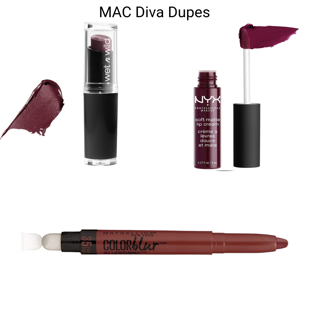 MAC Lipstick Dupes - MAC Diva Dupes