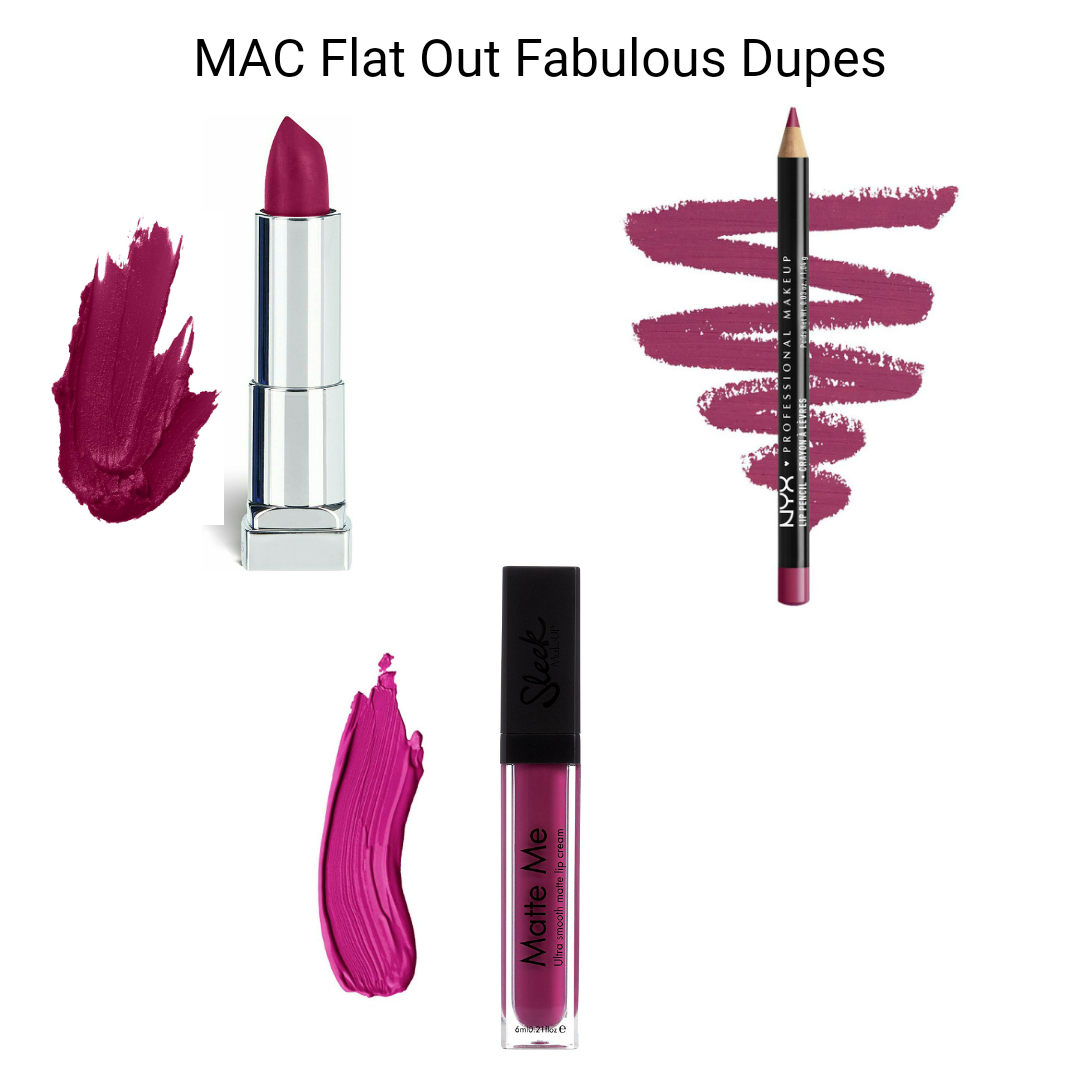 MAC Lipstick Dupes - MAC Flat Out Fabulous Dupes, Drugstore Dupes of mac flat out fabulous lipstick online