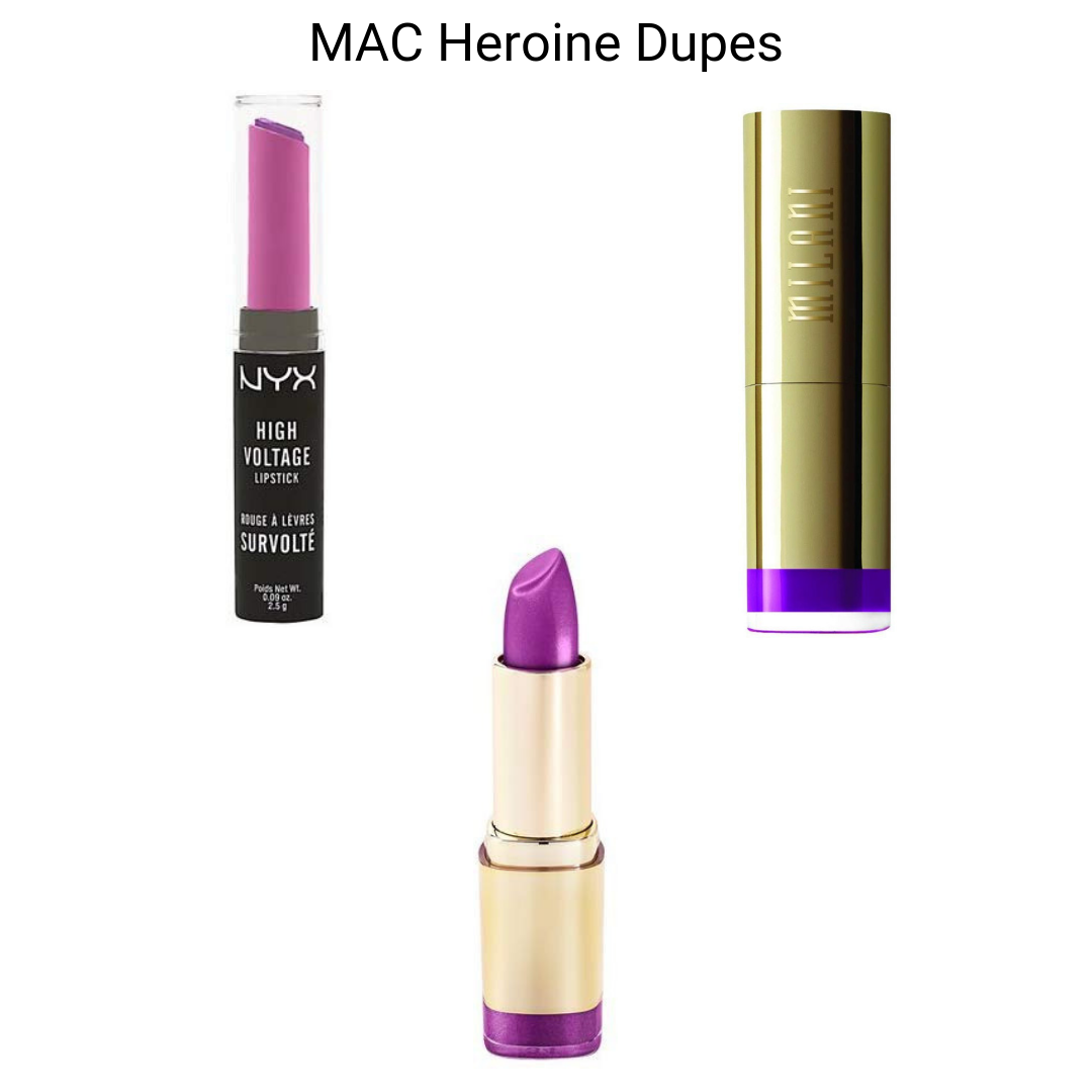 MAC Lipstick Dupes - MAC Heroine Lipstick Dupes