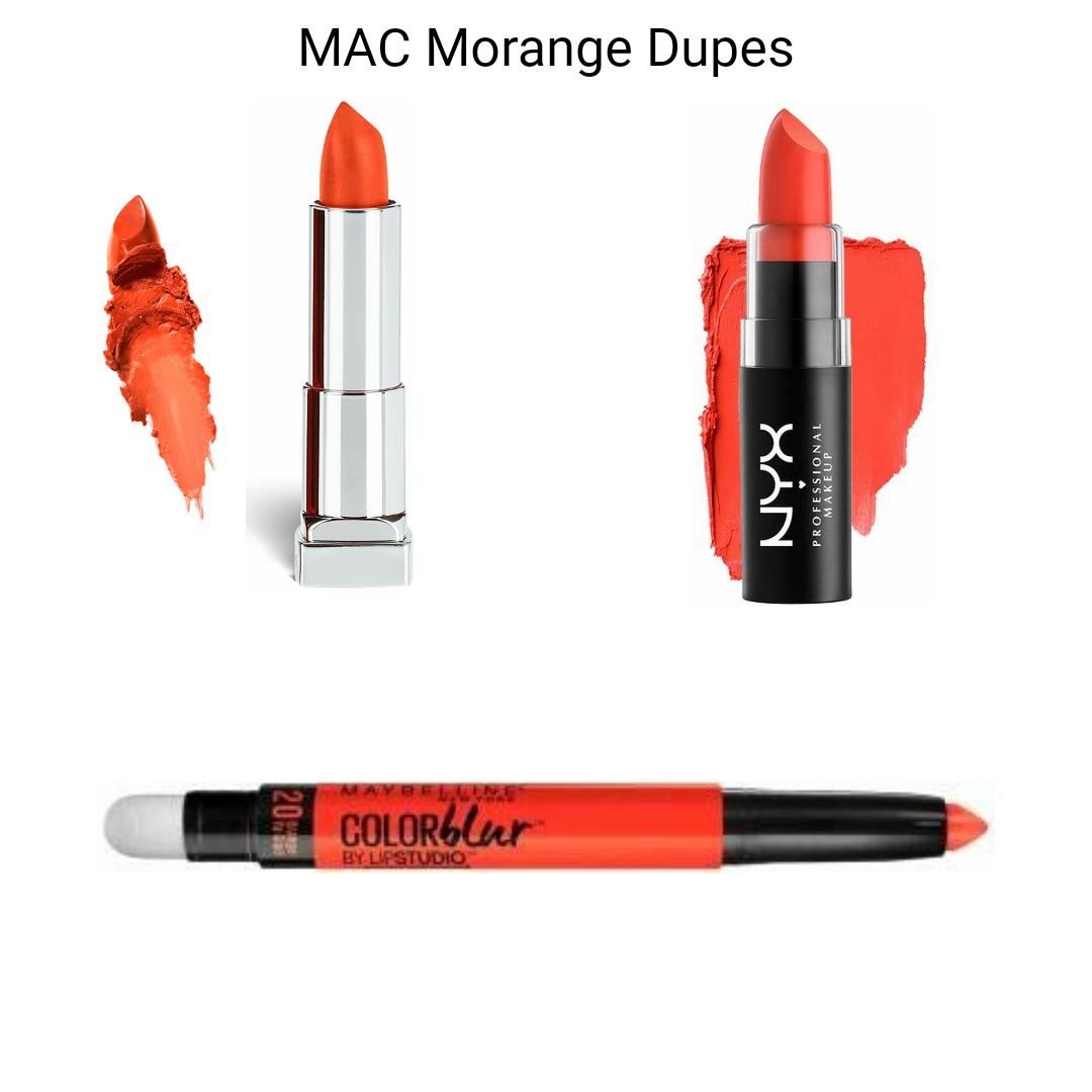 MAC Lipstick Dupes - MAC Morange Dupes