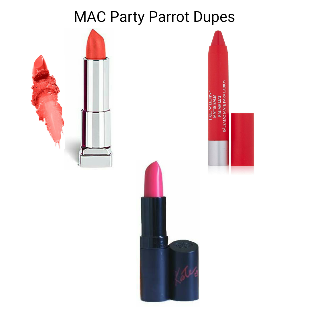 MAC Lipstick Dupes - MAC Party Parrot Dupes