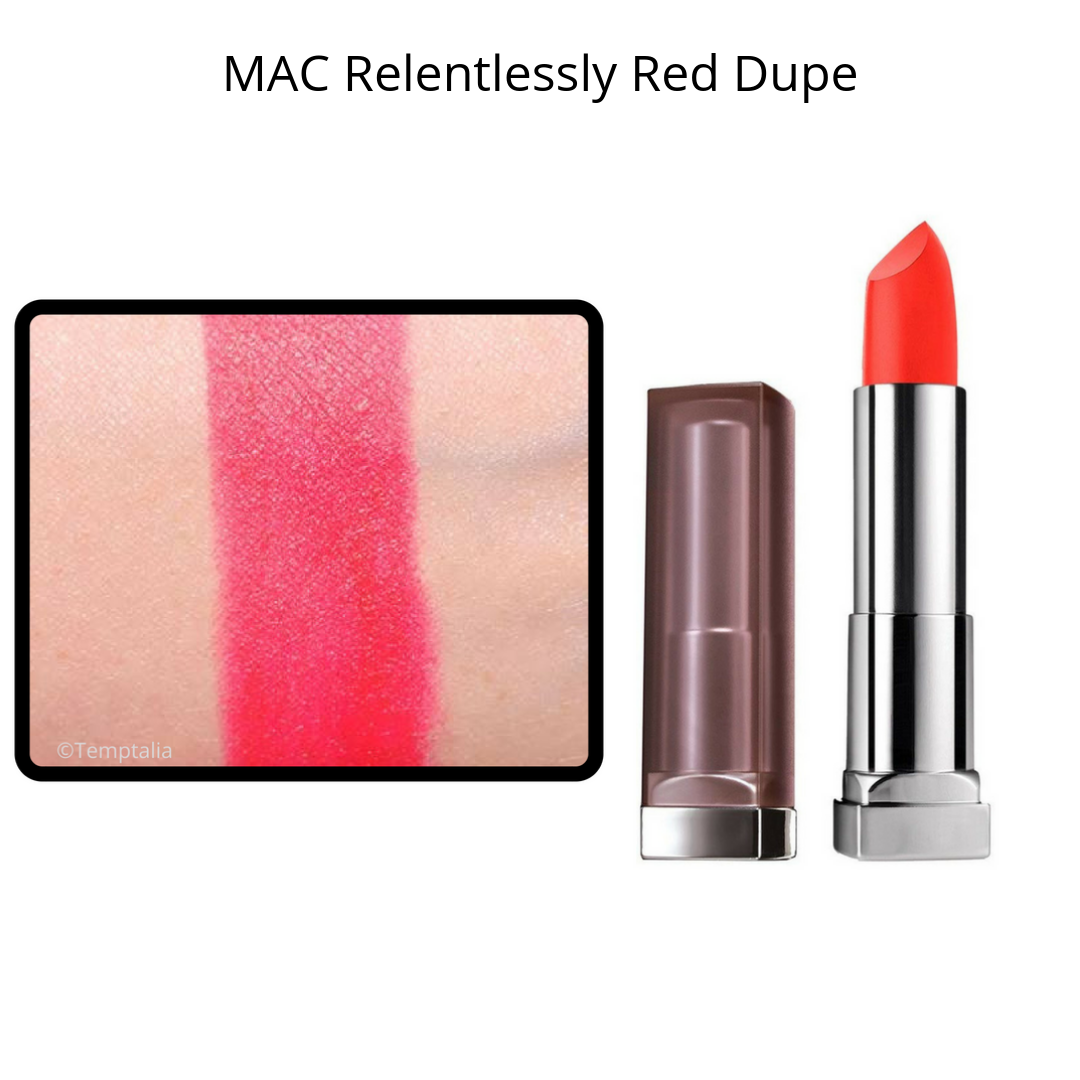 MAC Lipstick Dupes - MAC Relentlessly Red Dupe