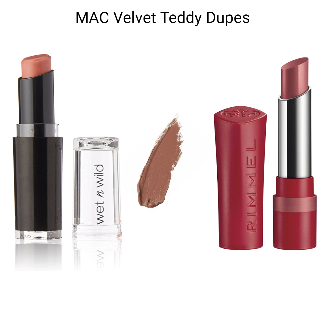 MAC Lipstick Dupes - MAC Velvet Teddy Dupes