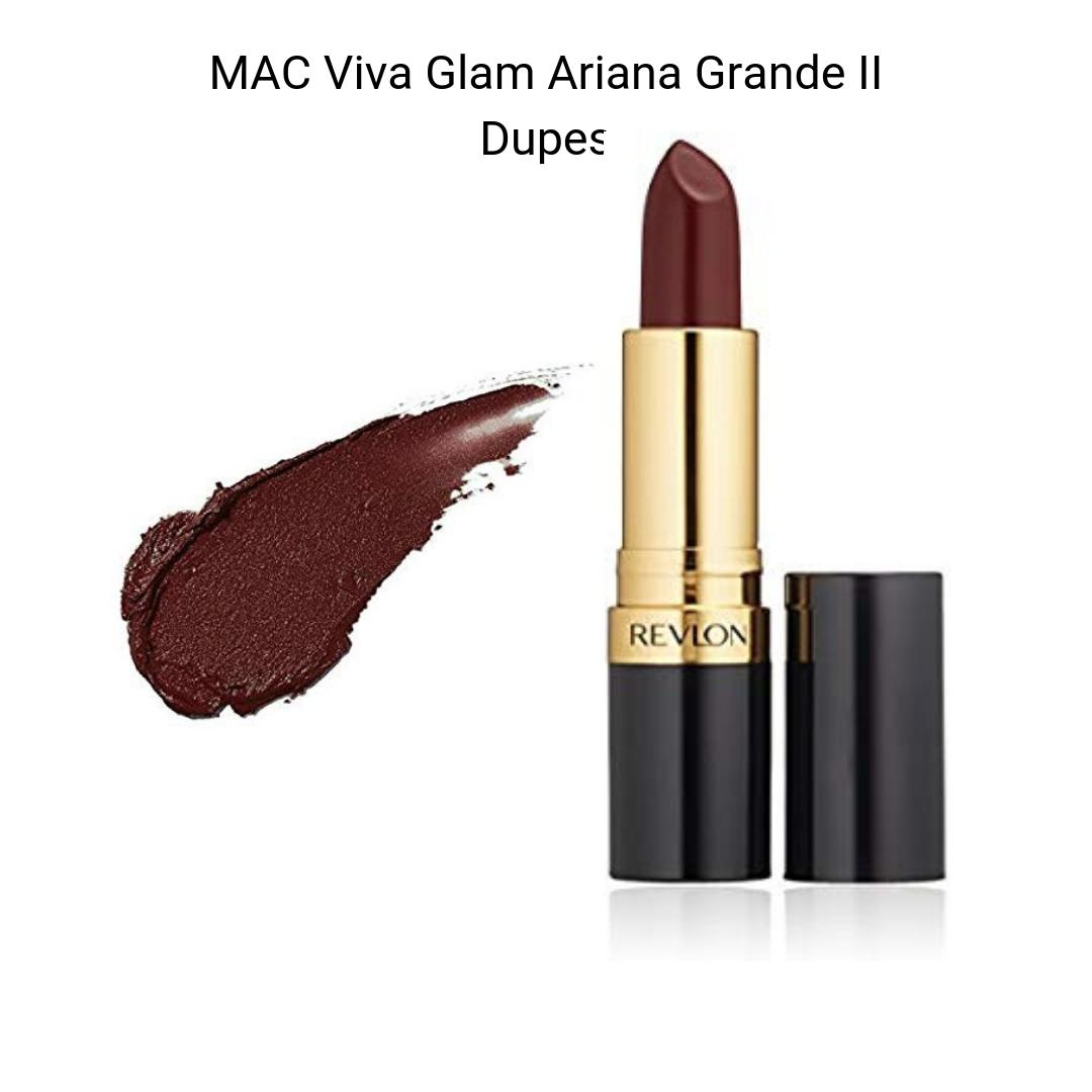 MAC Lipstick Dupes - MAC Viva Glam Ariana Grande II Lipstick dupe