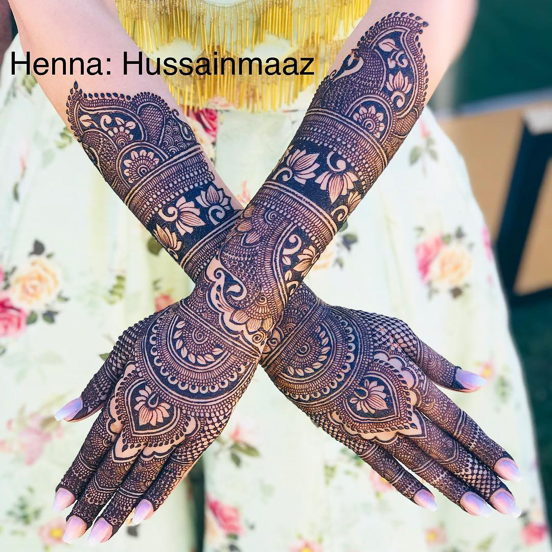 Back Hand Mehndi Designs For Bride