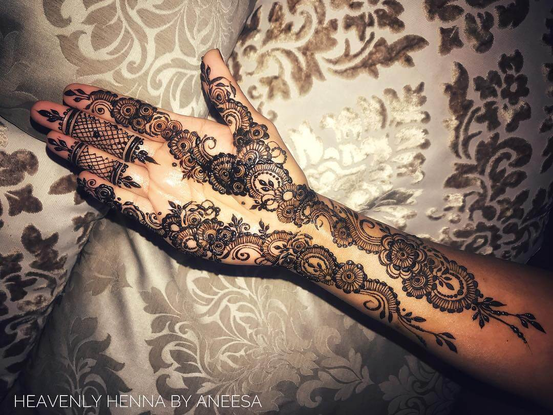 Arabic bridal mehndi design