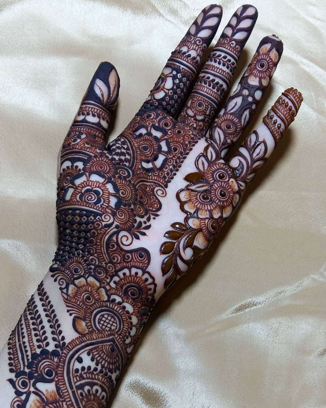 bridal mehndi design for palm