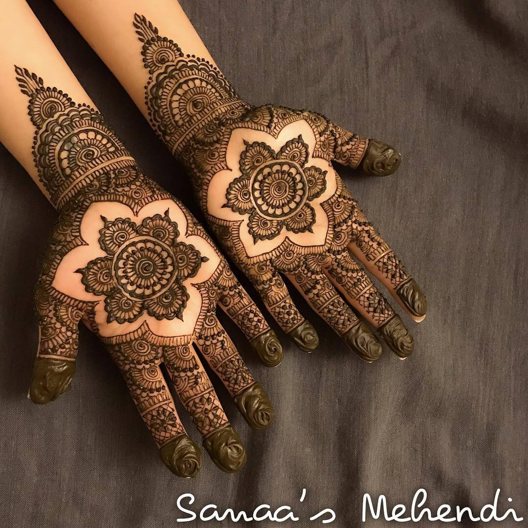 new Rajasthani bridal mehndi for both hands