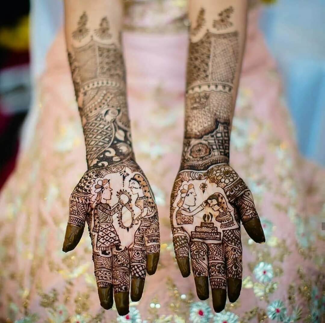 wedding mehndi designs for bride 2019