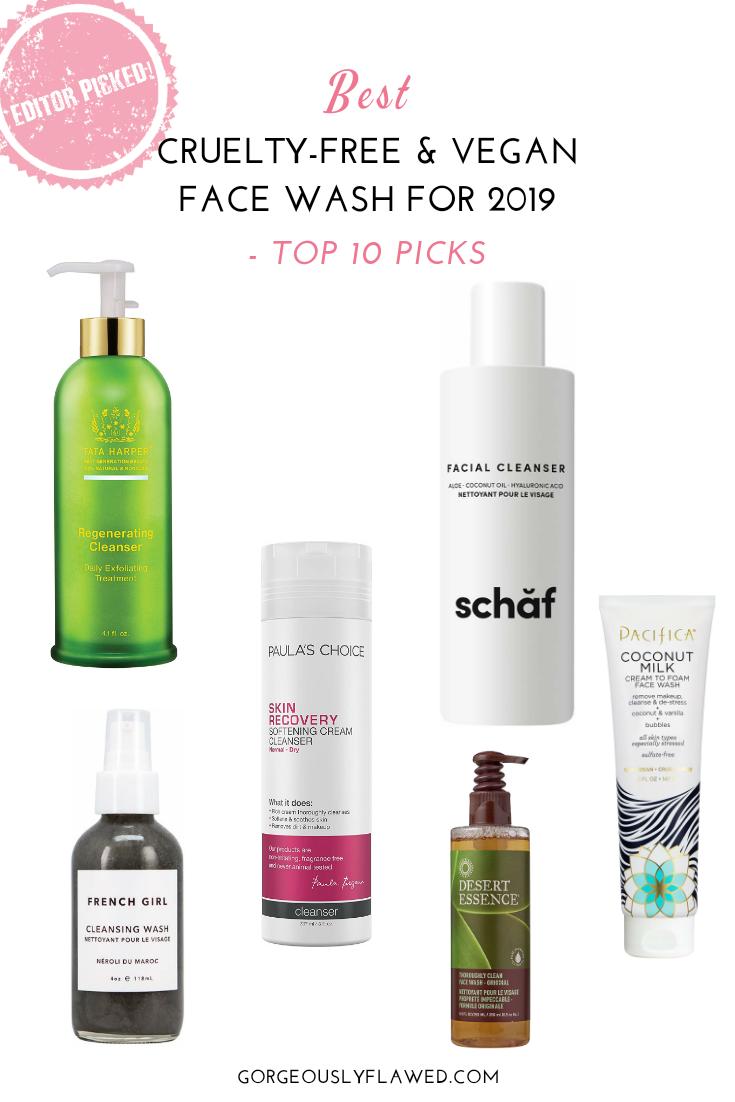Best Vegan Face Wash For 2019 – Top 10 Picks
