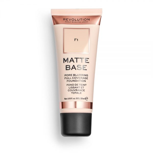 Revolution Matte Base Foundation Swatches & Review
