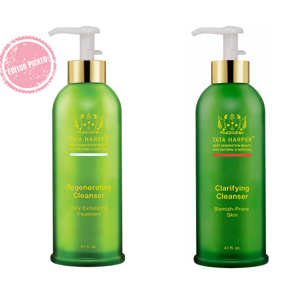 Tata Harper Regenerating Cleanser & Clarifying Cleanser | Best cruelty free face wash for acne