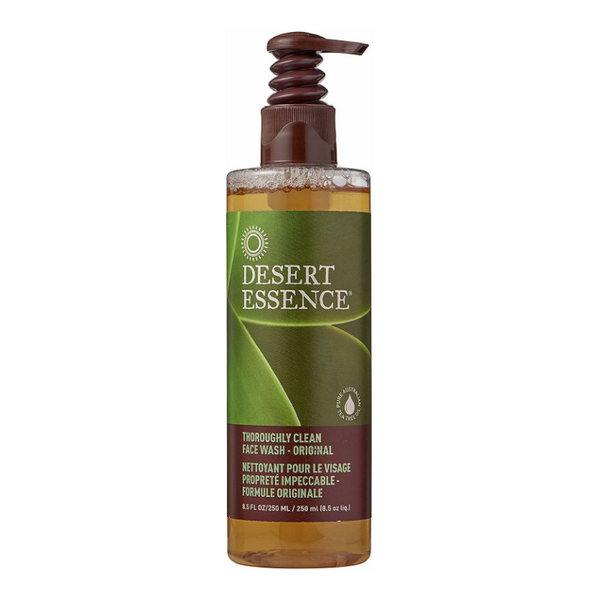 Desert Essence Thoroughly Clean Face Wash | best vegan face cleanser for oily skin
