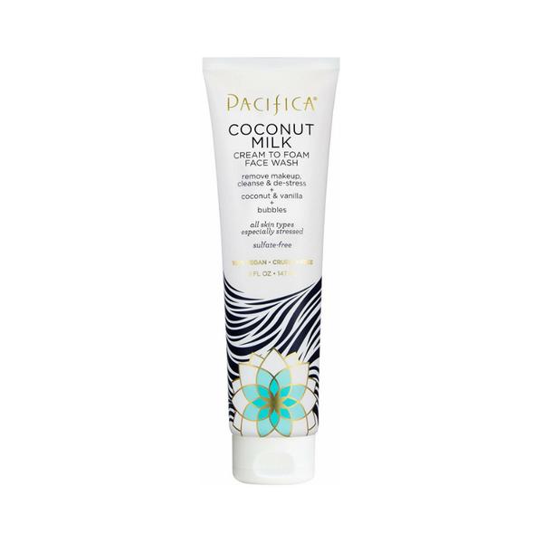 Pacifica Beauty Coconut Milk Cream to Foam Face Wash | Best vegan makeup remover for waterproof makeup