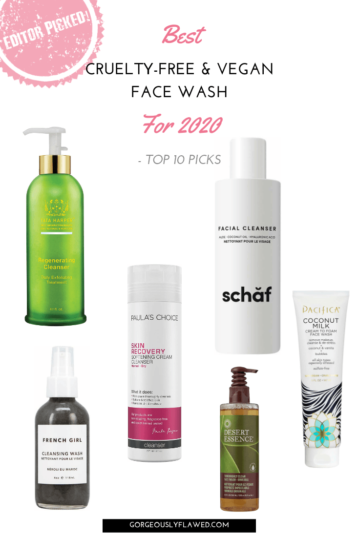 Best cruelty free and vegan face wash for 2020