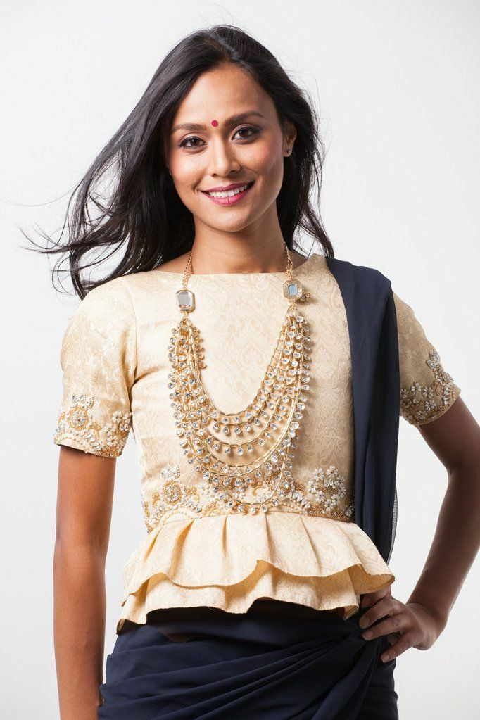 High neck blouse design latest