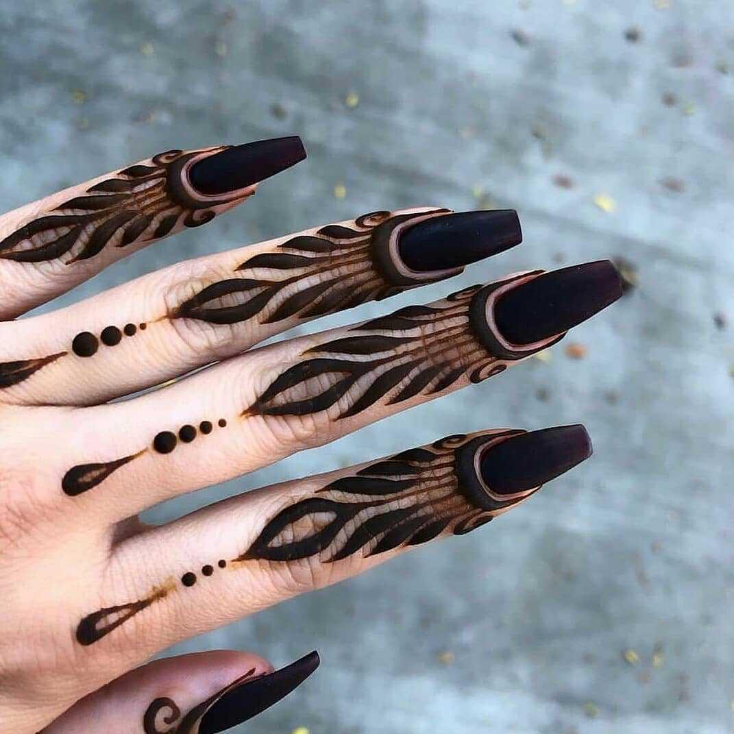 Fingers mehandi design