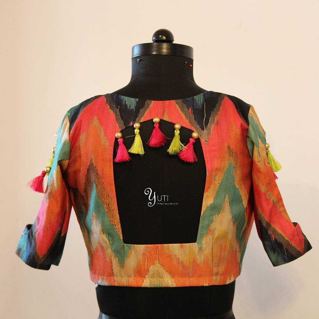 Colourful Blouse With Tassels & Beads