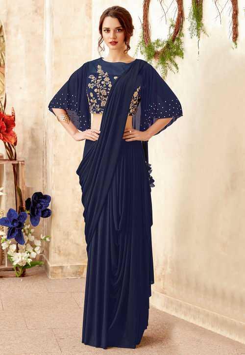 Cowl Style Trendy Saree 2019