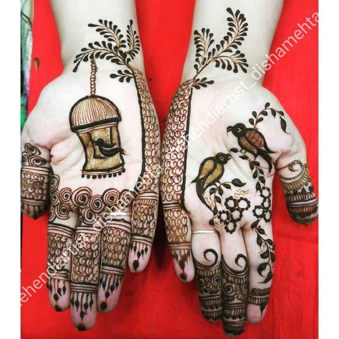 14+ Hariyali Teej Mehndi Designs To Try | Latest Hariyali Teej Mehndi Design Images 2