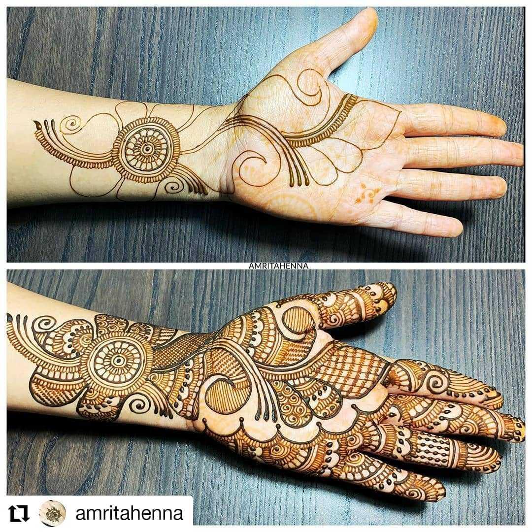 Arabic Mehndi Design For Rakhi