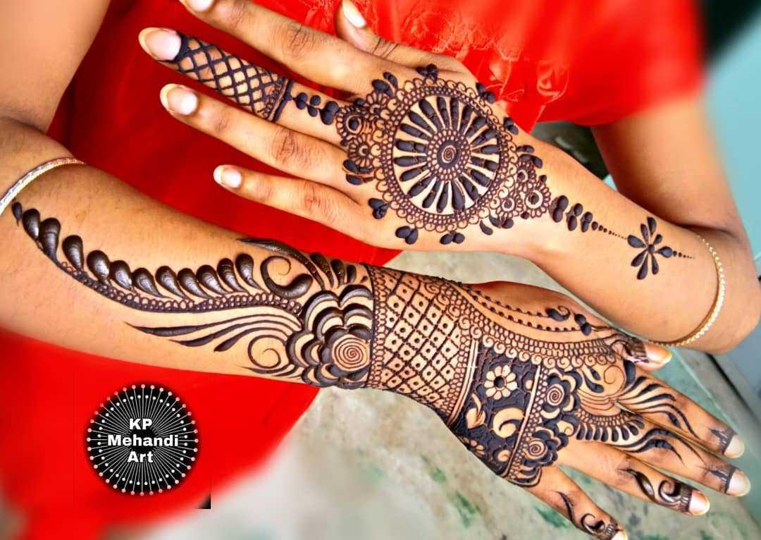 Full Arm Mehndi Design For Rakshabandhan
