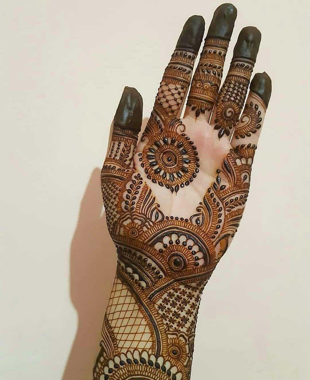 Full Palm Mehndi Design For Eid