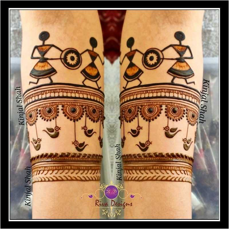 Latest Rakshabandhan Warli Mehndi Design Images